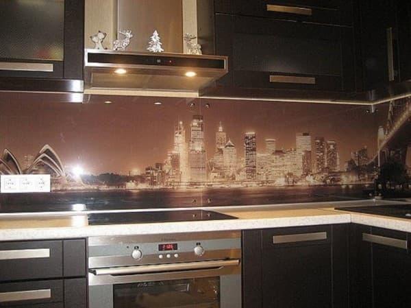панели для кухни с рисунком
