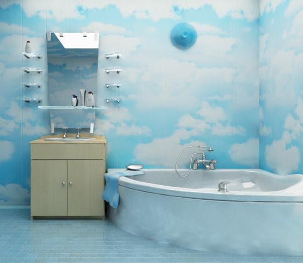 стеновые панели из пвх для ванной Кристал