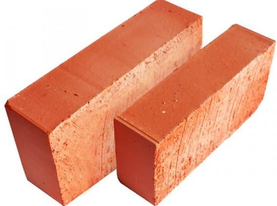 керамический красный полнотелый