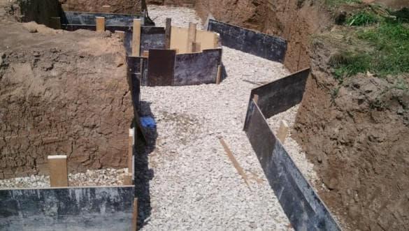 гравий при строительстве фундамента