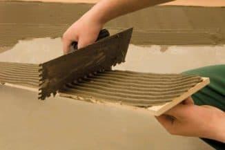 состав плиточного клея при ремонте в доме