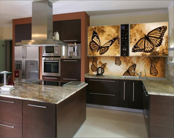 панели для кухни с рисунком Планета Пластик