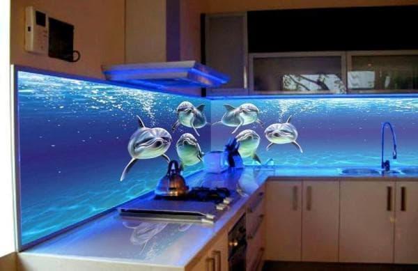 панели для кухни с рисунком VOX