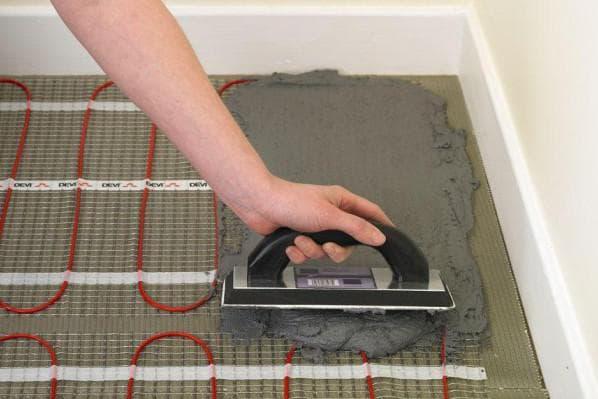 плиточный клей для теплого пола