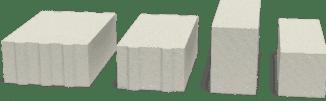 газоблок разного вида и формы