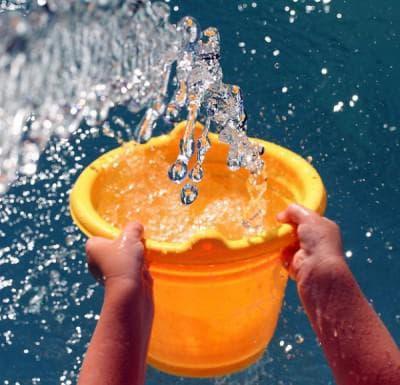 вода в ведре