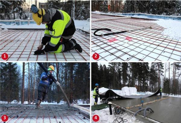 При какой температуре застывает бетон