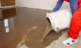 расход цементно-песчаная смесь на 1 м2 стяжки