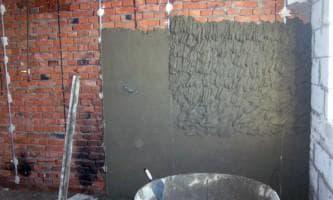 цементный раствор для штукатурки стен