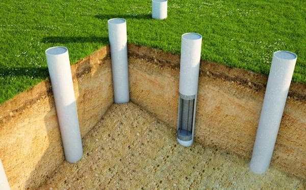 столбчатый фундамент для газобетона