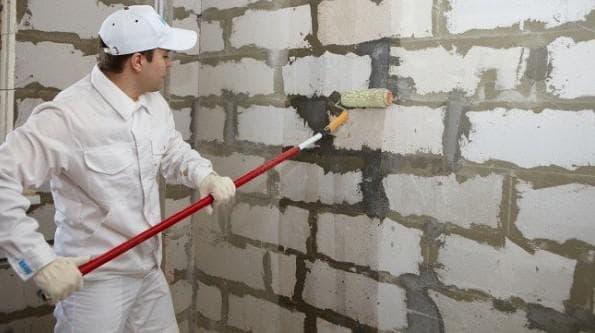 отделка стен раствором из пеноблока
