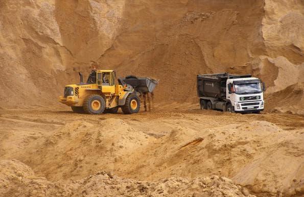 строительные песок