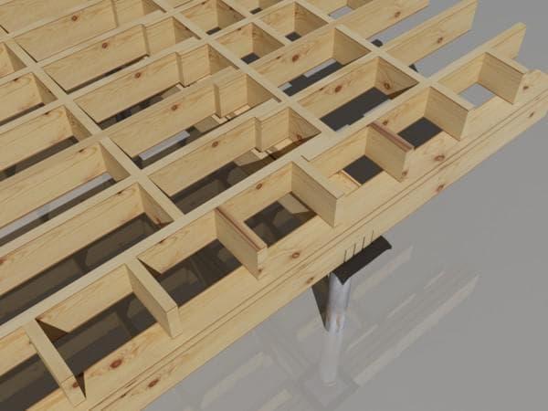 деревянные балки перекрытия-габариты