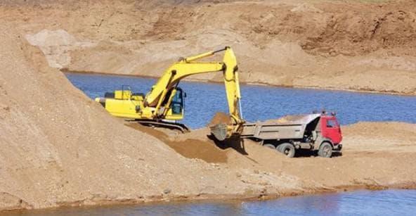 речной песок для строительства