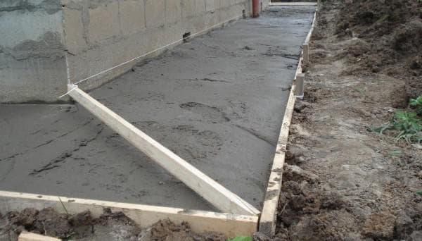 бетон В20 используют при строительстве отмосток