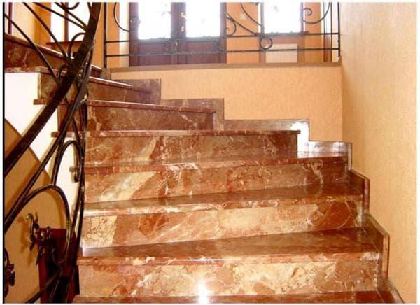 покрытие ступенек для лестниц из искусственного мрамора