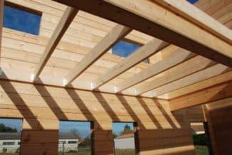 деревянные балки перекрытия размеры при строительстве