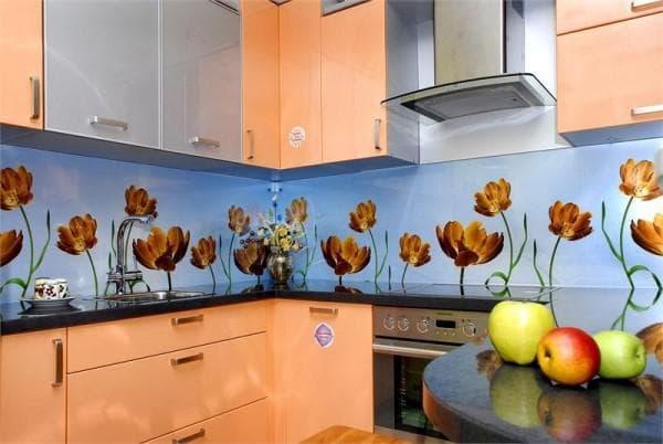 стеновые панели из стекла для кухни от Декор Стекол
