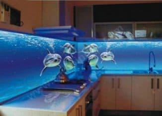 панель для кухни из стекла