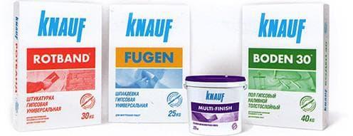 сухая смесь от Кнауф