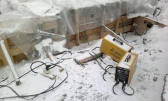 использование сварочного аппарата для прогрева бетона