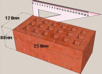 сколько кирпичей в квадратном метре на стройке