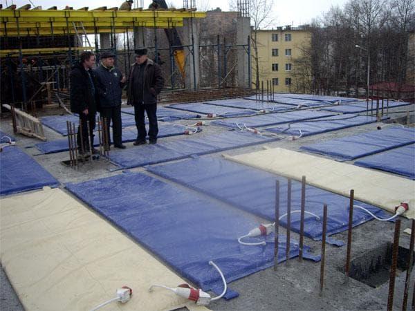 индукционный метод прогрева бетона