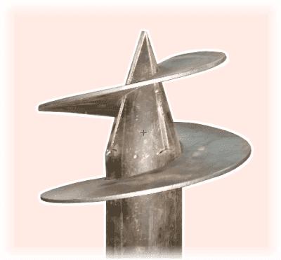 сварные винтовые сваи с тремя лопастями