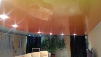 сатиновый натяжной потолок из чего сделан