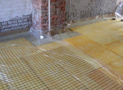 стекловата для пола по бетону
