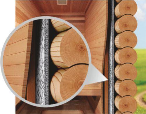 рулонный утеплитель с фольгой для бани