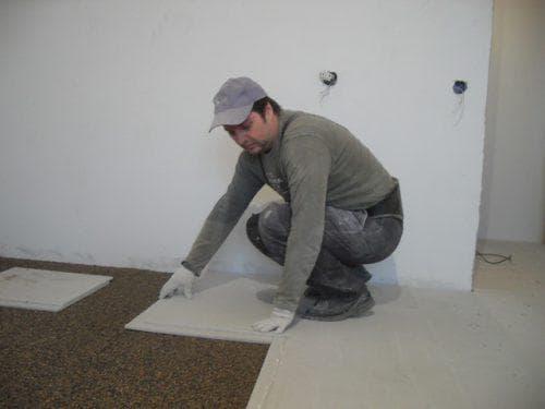 гипсоволокно для пола по бетону