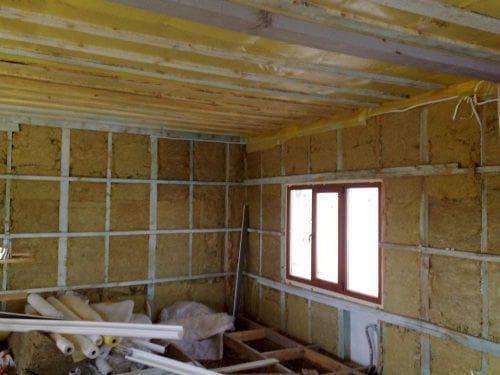 базальтовая вата для теплоизоляции стен изнутри