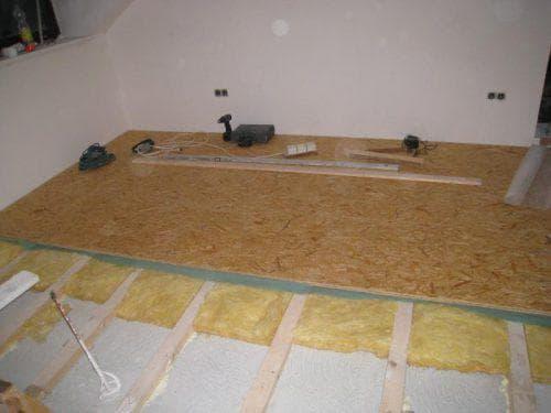 стекловата на бетонный пол под линолеум