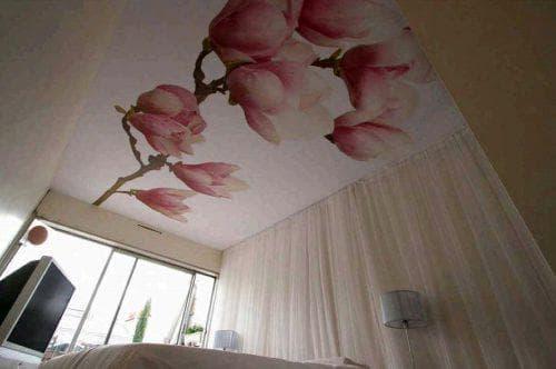 Тканевые натяжные потолки 66 фото недостатки плюсы и минусы ткани отзывы - какой лучше ПВХ или текстильный