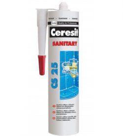 Затирки на основе силиконового герметика марок Ceresit