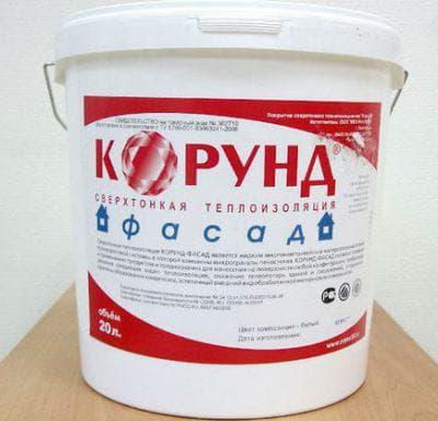 жидкая теплоизоляция для стен изнутри Корунд