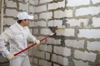 процесс нанесения жидкая теплоизоляция для стен