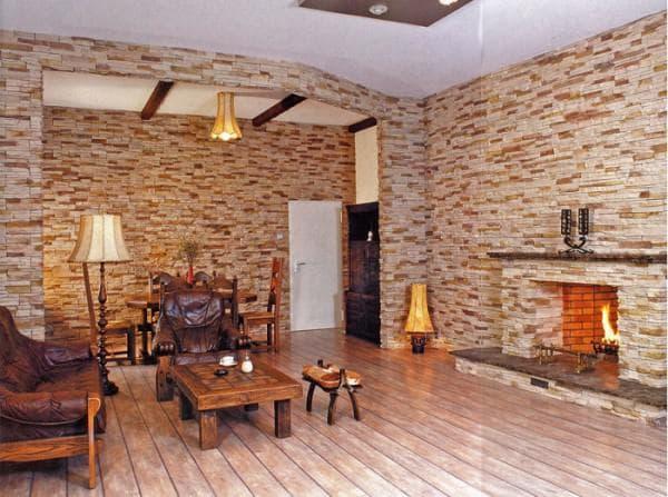 древесные декоративные панели под кирпич для внутренней отделки