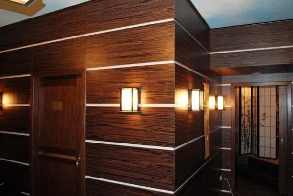 стеновые шпонированные панели для внутренней отделки мдф