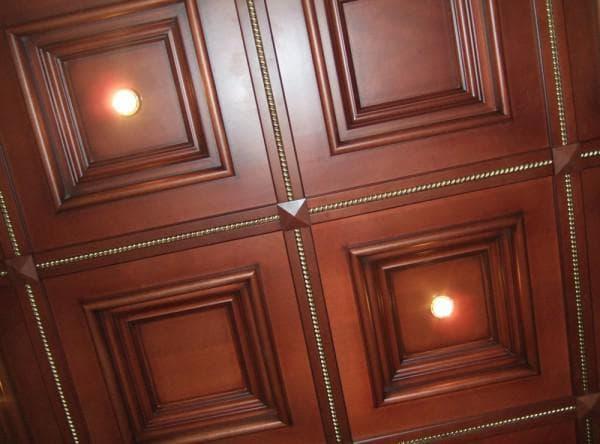 Шпонированные МДФ плиты для потолка
