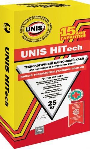 клей плиточный юнис HiTech