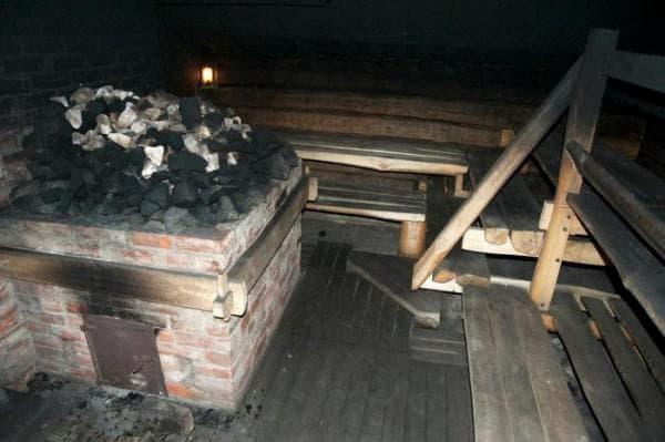 печь бани по чёрному
