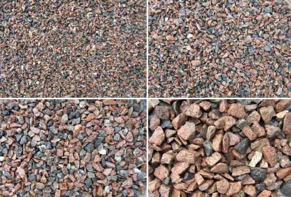 Гравий и щебень: отличия, в чем разница, фото