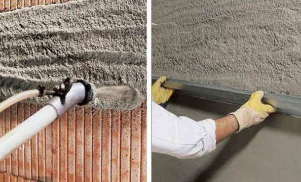 цементно песчаная смесь для оштукатуривания поверхности