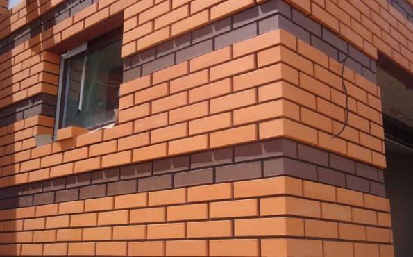 внешняя стена из кирпича красного полнотелого