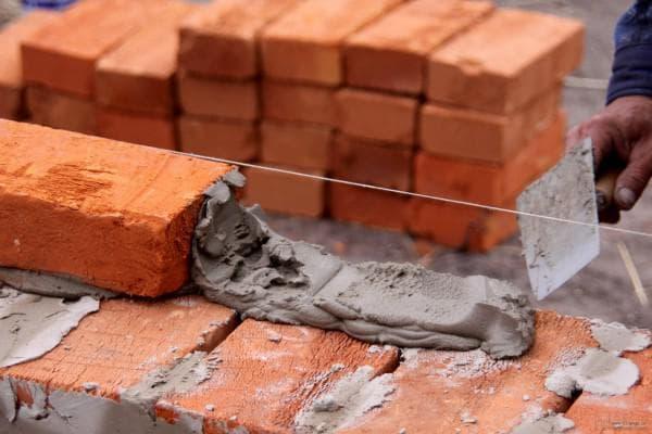 применение красного строительного кирпича