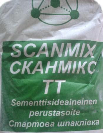 фасадная шпаклевка SCANMIX TТ