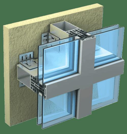 вентилируемые фасады Стеклянные панели