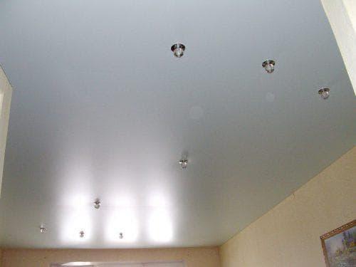 конструкция сатинового натяжного потолка